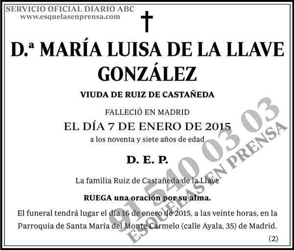 María Luisa de la Llave González